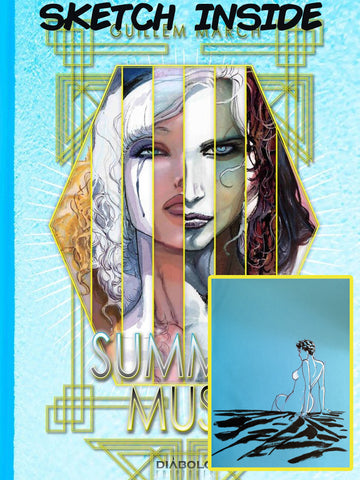 SIGNED & ORIGINAL ILLUSTRATION 1 Hardback Summer Muse Volume 1 by Guillem March