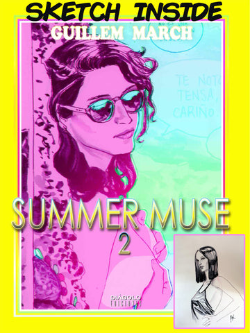 SIGNED & ORIGINAL ILLUSTRATION Hardback Summer Muse Volume 2 by Guillem March