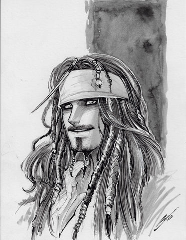 Gerardo Sandoval Original Art Jack Sparrow Fan Art Challenge Illustration