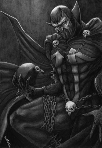 Ingrid Gala Original Art Spawn Graphite Illustration