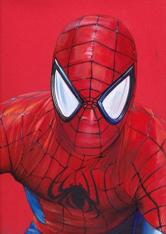 Fred Ian Original Art Spider-Man Detailed Oil Painted Sketch