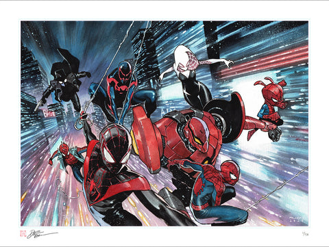 "Spider-Verse 'Original Art Replica 18x24"" Giclee' by Dike Ruan"