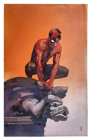 Alex Maleev Original Art Spider-Man Illustration
