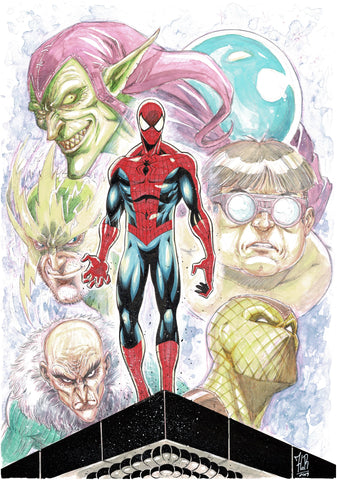 Jordi Tarragona Original Art Spider-Man & Rogues Illustration