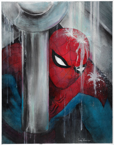 Casey Parsons Original Art Spider-Man Tribute Illustration