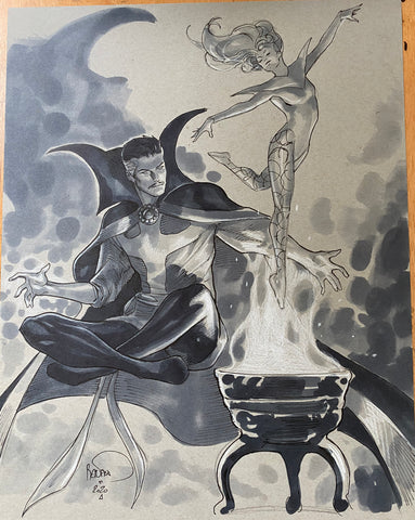 Paul Renaud Original Art Doctor Strange Study Illustration