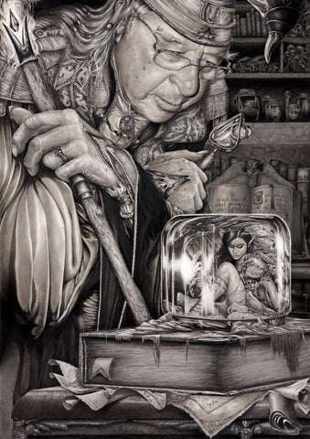 Pepe Valencia Original Art 'Strange Firefly' Graphite Illustration