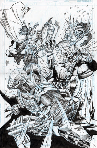 Guillem March Original Art Suicide Squad #42 Cover