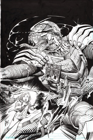 Guillem March Original Art Suicide Squad #44 Cover