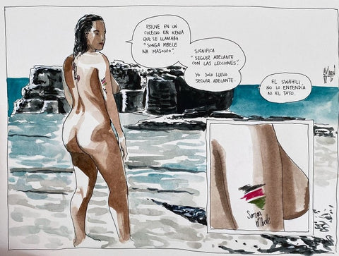 Guillem March Original Art Summer Muse Barbara 2