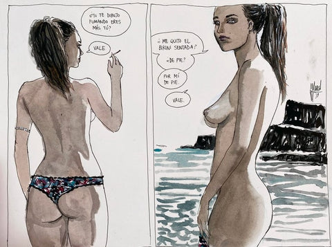 Guillem March Original Art Summer Muse Raquel 2