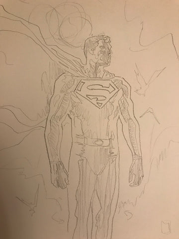 David Mack Original Art Superman #1 Prelim Cover