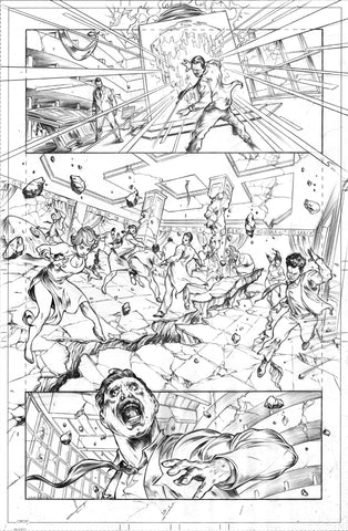 Gianluca Gugliotta Original Art Mister Terrific #1 Page 19