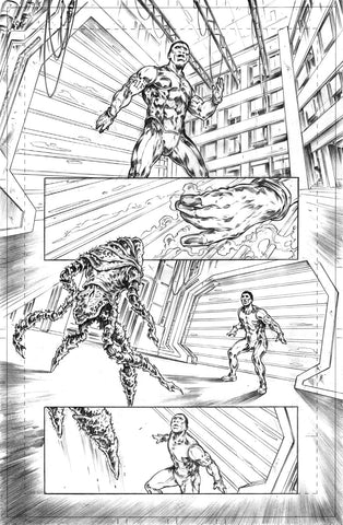 Gianluca Gugliotta Original Art Mister Terrific #4 Page 14