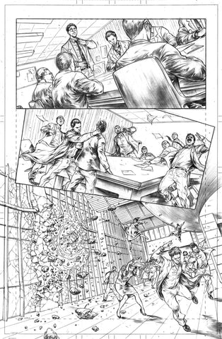 Gianluca Gugliotta Original Art Mister Terrific #8 Page 1