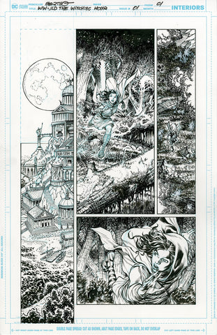 Jesus Merino Original Art Wonder Woman: Witching Hour #1 Page 1