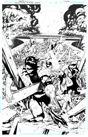 Rafa Sandoval Original Art Future State: Teen Titans #1 Cover