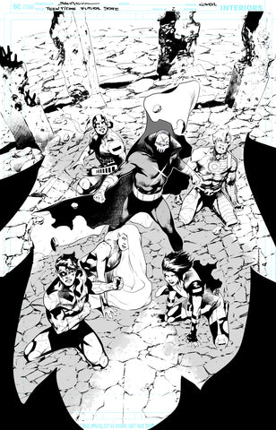Rafa Sandoval Original Art Future State: Teen Titans #2 Cover