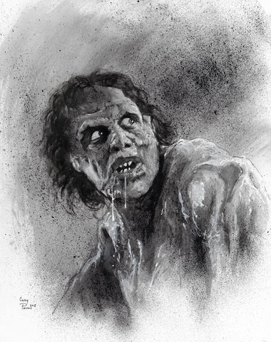Casey Parsons Original Art Inktober Horror The Fly