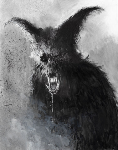 Casey Parsons Original Art Inktober Horror The Howling