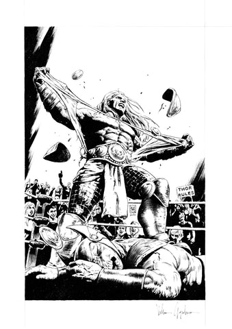 Valerio Giangiordano Original Art Thor #9 Cover