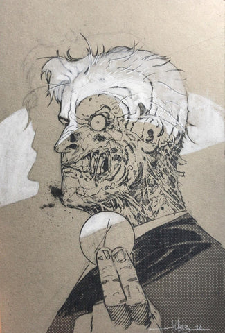 Javier Fernandez Original Art Two Face Illustration
