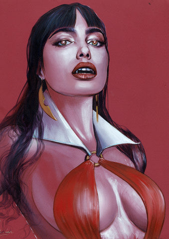 Fred Ian Original Art Vampirella Oil Painted Illustration