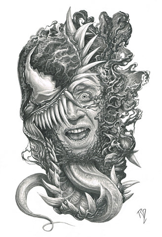 Pepe Valencia Original Art Venom Portraits Collection Illustration