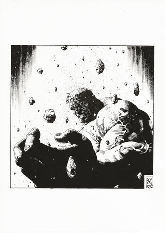 Valerio Giangiordano Original Art Hulk Illustration