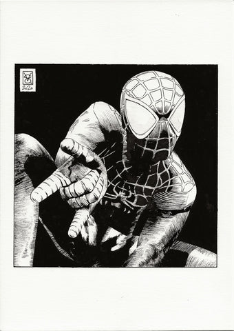 Valerio Giangiordano Original Art Miles Morales Illustration