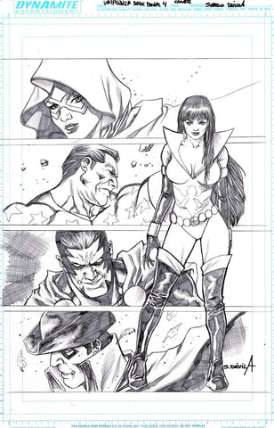 Sergio Davila Original Art Vampirella The Dark Powers #4 Cover