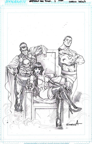 Sergio Davila Original Art Vampirella The Dark Powers #5 Cover