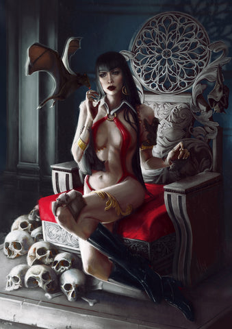 Vampirella #1 500 Limited Virgin Cover by Ingrid Gala