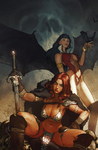 NYCC 2019 Exclusive Vampirella Red Sonja #1 500 Limited Virgin Cover by Gerald Parel