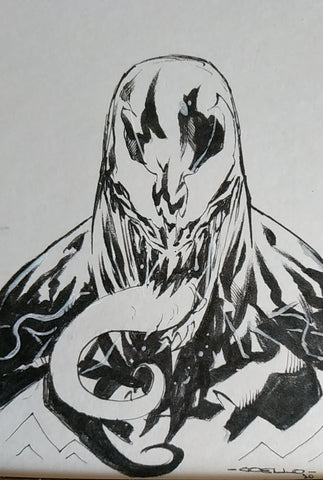 Iban Coello Original Art Venom Illustration