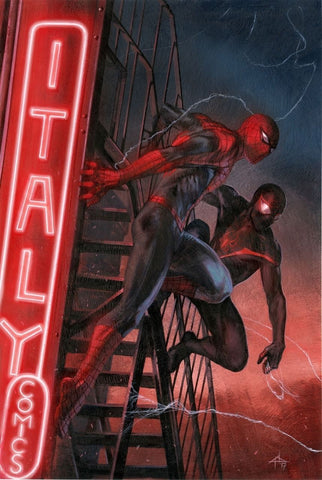DOUBLE SIGNED Spider-Men 2 #1 Italy Exclusive by Gabriele Dell'Otto *Signed by Dell'Otto & Pichelli*