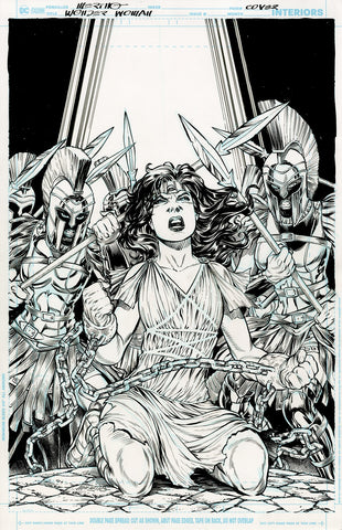 Jesus Merino Original Art Wonder Woman #72 Cover