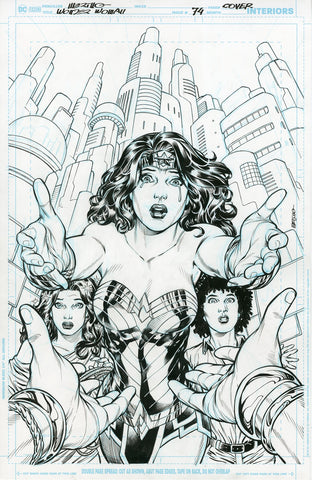 Jesus Merino Original Art Wonder Woman #74 Cover