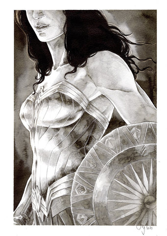 Guillaume Martinez Original Art Wonder Woman Illustration