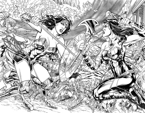 Jesus Merino Original Art Wonder Woman #74 Page 2-3
