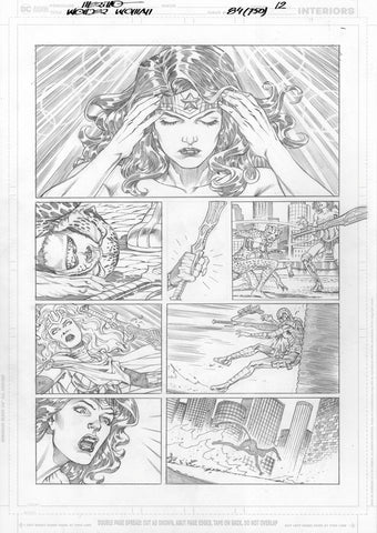 Jesus Merino Original Art Wonder Woman #750 Page 12