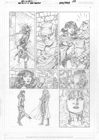 Jesus Merino Original Art Wonder Woman #750 Page 13