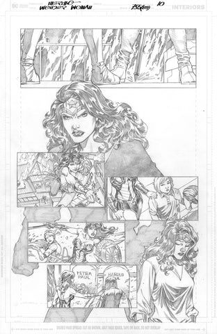 Jesus Merino Original Art Wonder Woman #755 Page 10
