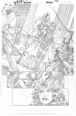Jesus Merino Original Art Wonder Woman #755 Page 2