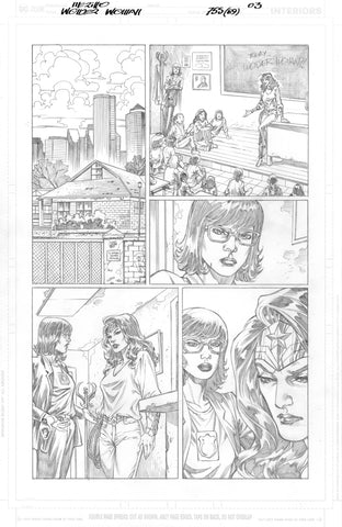 Jesus Merino Original Art Wonder Woman #755 Page 3
