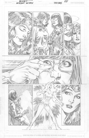 Jesus Merino Original Art Wonder Woman #755 Page 5