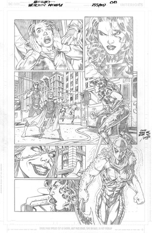 Jesus Merino Original Art Wonder Woman #755 Page 8