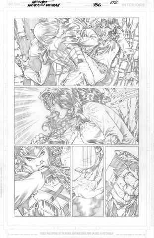 Jesus Merino Original Art Wonder Woman #756 Page 2