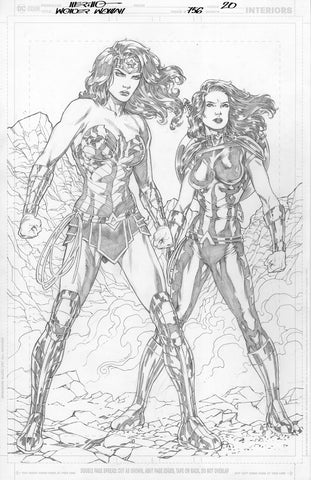 Jesus Merino Original Art Wonder Woman #756 Page 20