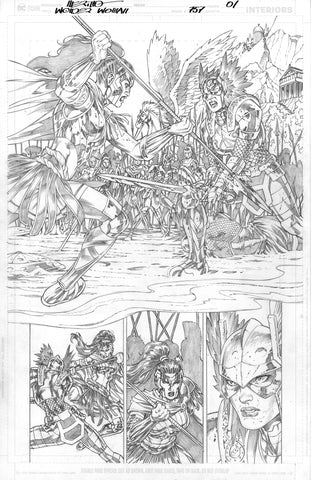 NYCC ST JUDE'S CHARITY AUCTION PIECE Jesus Merino Original Art Wonder Woman #757 Page 1